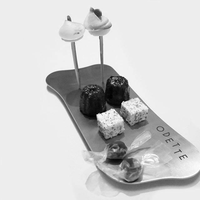 Always end your meal with desserts such as with these amazing petit fours from Odette.