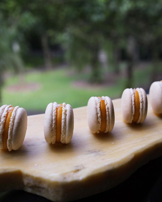 Salted egg macaroons that's not in the menu but served as a final curtain call to an otherwise excellent meal.