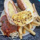 chicken kiev w/ sides of spaghetti & fries 👍 10.2.17 #foodporn #sgfoodporn #foodsg #sgfoodies #instafood #foodstagram #cafehoppingsg #sgcafefood #vscofood #burpple #hungrygowhere