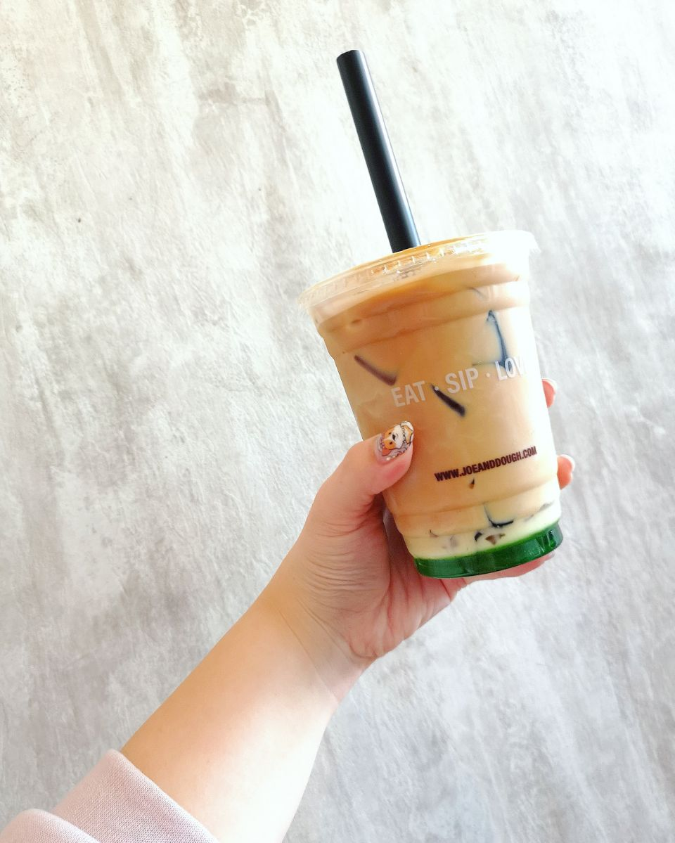 Gula Melaka Pandan 🍃 Latte With Coffee Jelly ($6.90