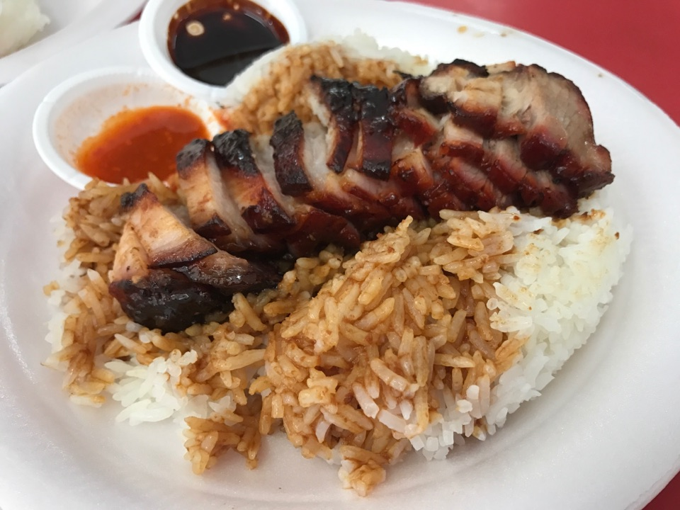 Soya Sauce Chicken and Char Siew Rice