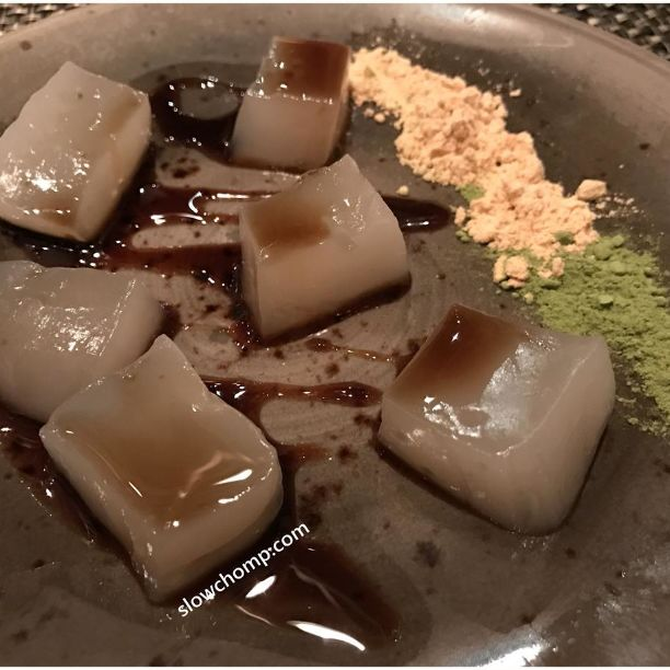 Warabi Mochi, $18++ (Half Portion Pictured)