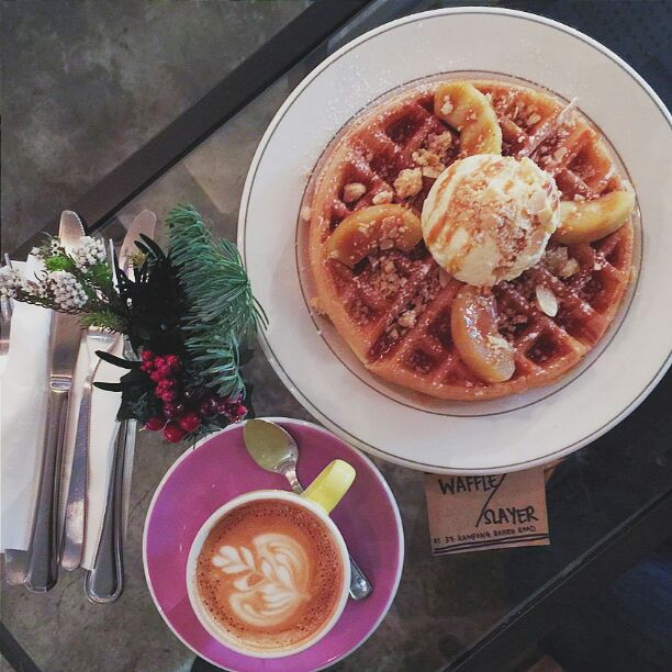 Apple With Almond Waffles