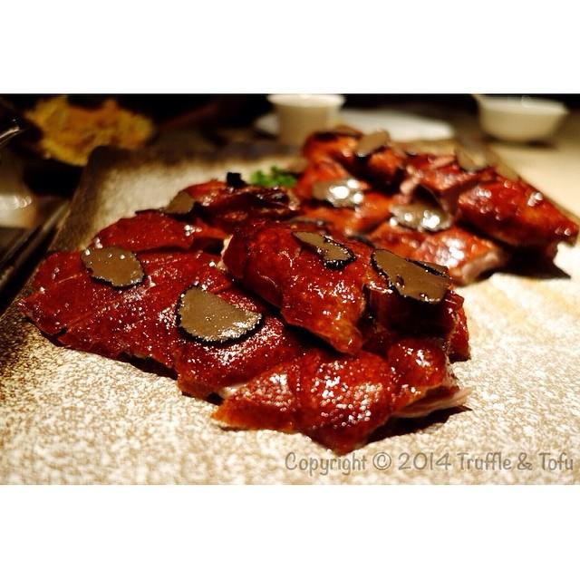 Truffle infused roast duck..