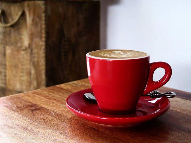 flat white @ rise & grind coffee co