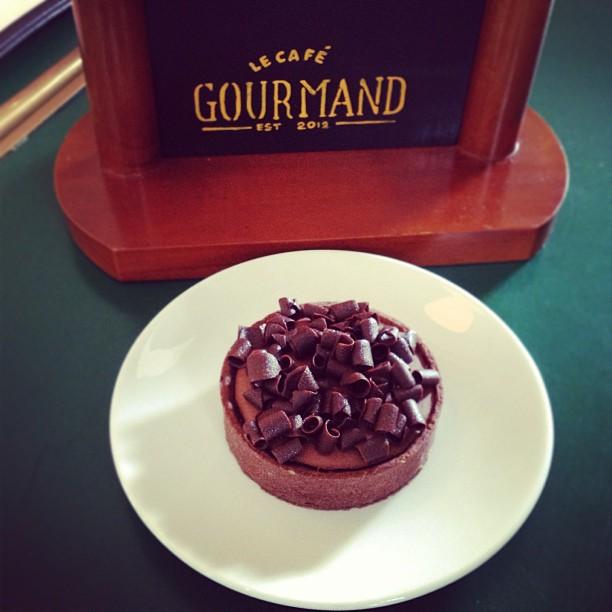double #chocolate tart #food #dessert #surabaya
