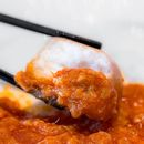 My favorite part of a Singaporean chili dish (crab or other seafood) - deep fried buns to sop up the scrumptious chili sauce, so addictive!