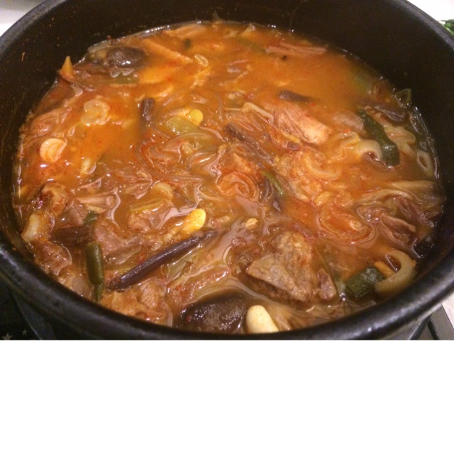 Spicy Beef Rib Soup