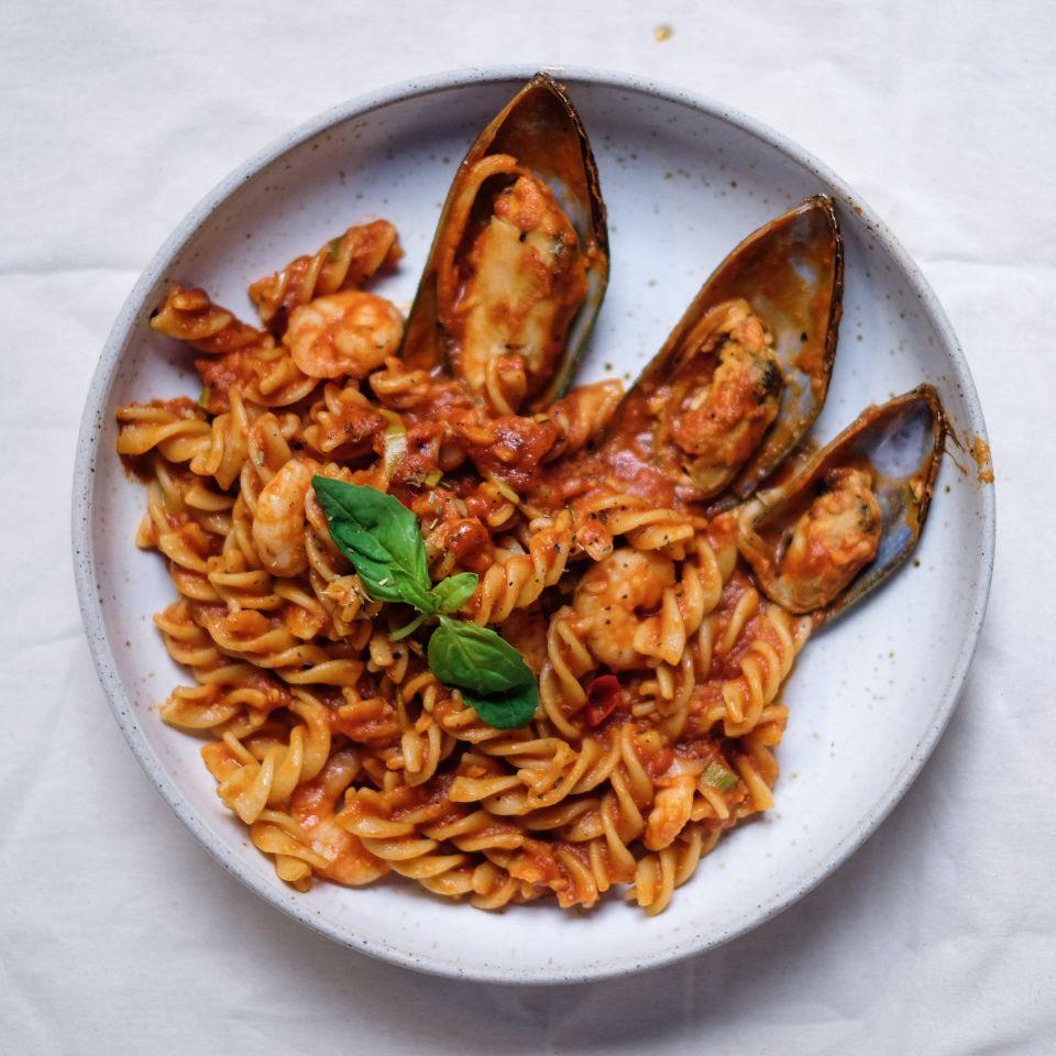 Passata Mussels and Shrimp
