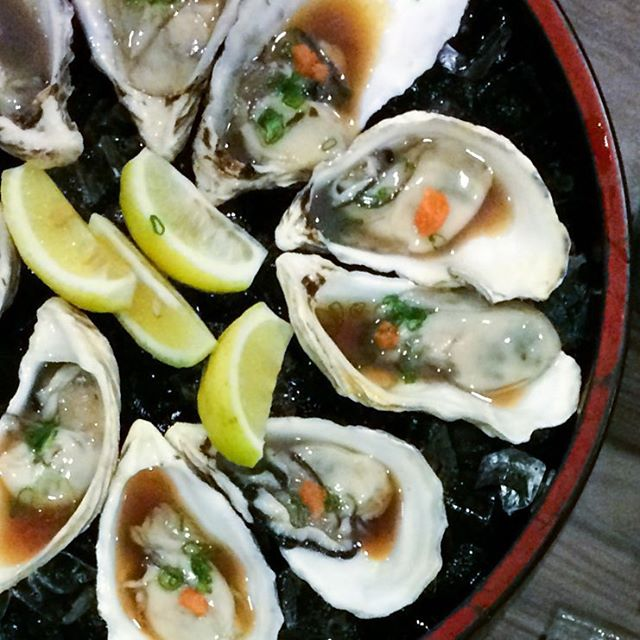$1++ oysters.