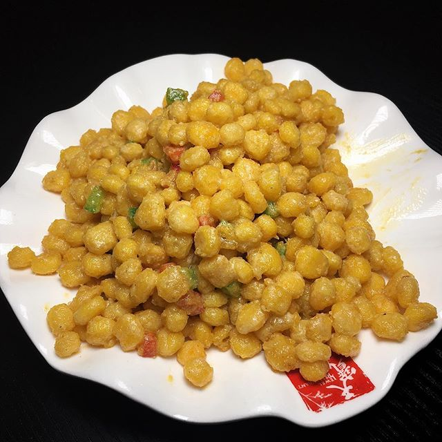 Crispy Golden Corn in Salted Egg Sauce from Tian Bao Szechuan Restaurant at Takashimaya.
