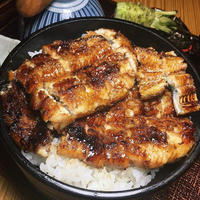 Large Hitsumabushi (Una Don with spices and dashi) from Man Man Japanese Unagi Restaurant.