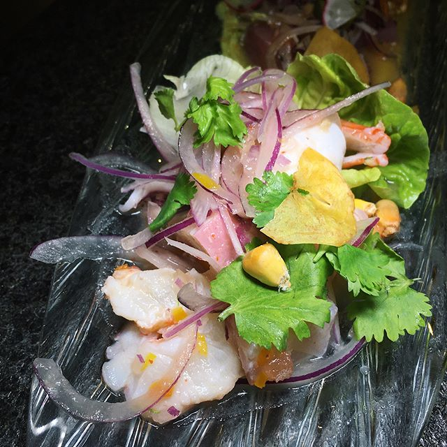 Just thinking about this tasting platter of three different ceviche - Tono, Mixto, and Nikkei - that I had seventy-one pisco sours ago at Tono Cevicheria, a Peruvian concept newly-opened at Duo Galleria in Bugis.