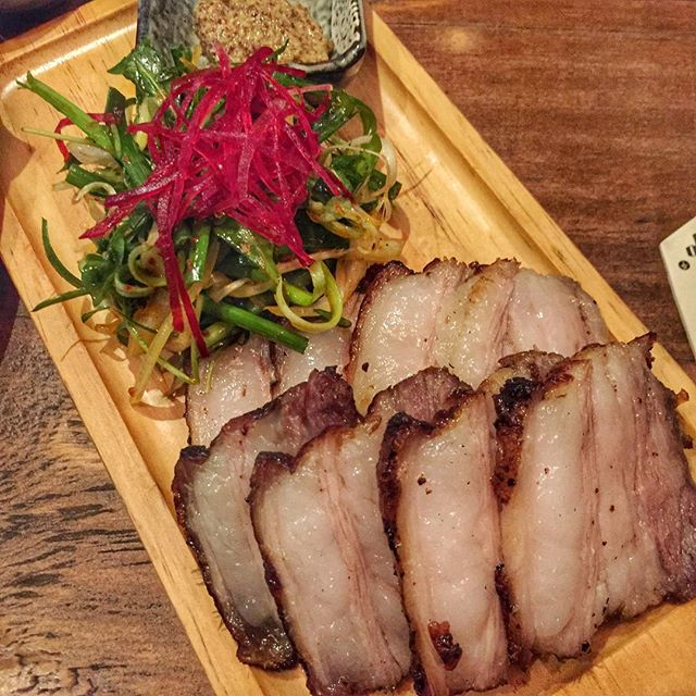 Roast pork belly..