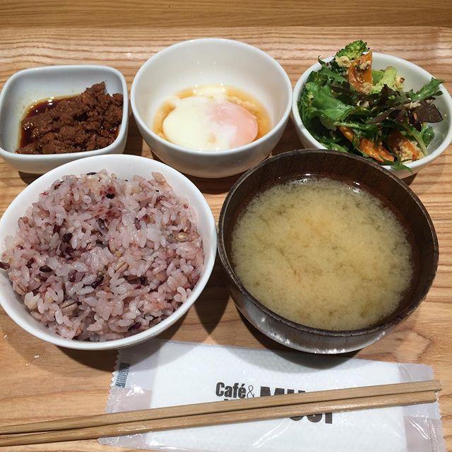 いただきます^^ Basic Lunch Set at Muji Cafe.