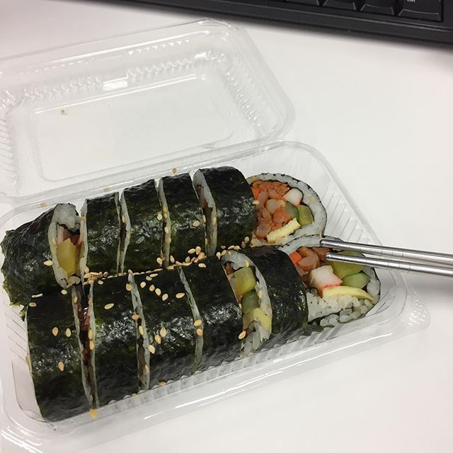 Gimbap for quick lunch fix.