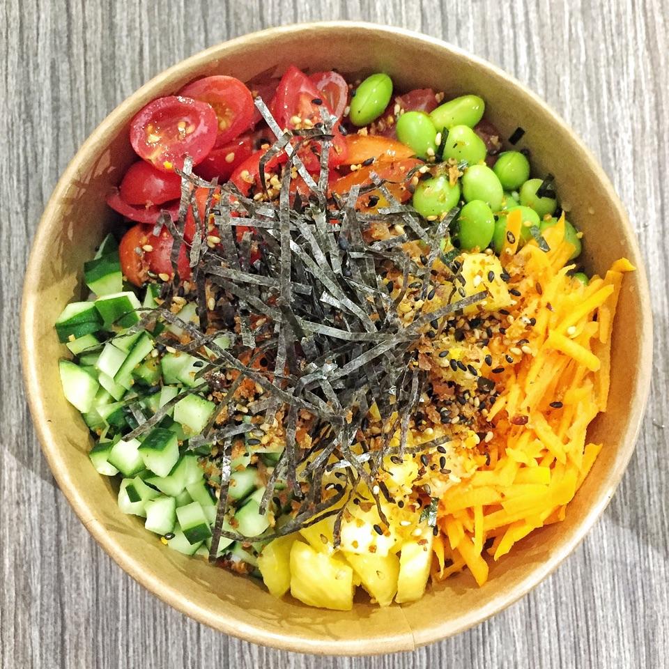 Regular Poke Bowl with Spicy Sesame Tuna ($11.50)