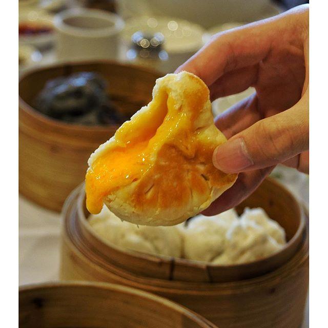 Salted egg yolk custard with a baked crust.