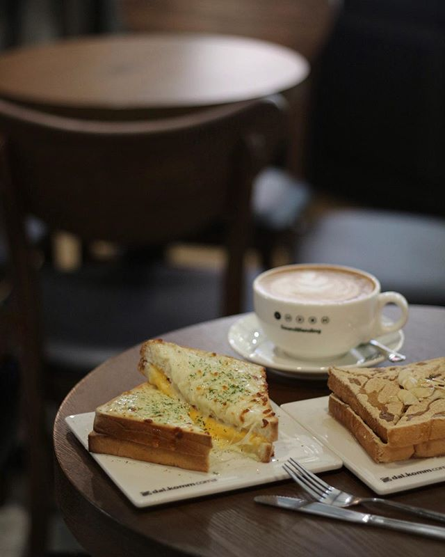 Weekends with Croque Monsieur, Injeolmi Toast and Rose Latte from Dal.komm.