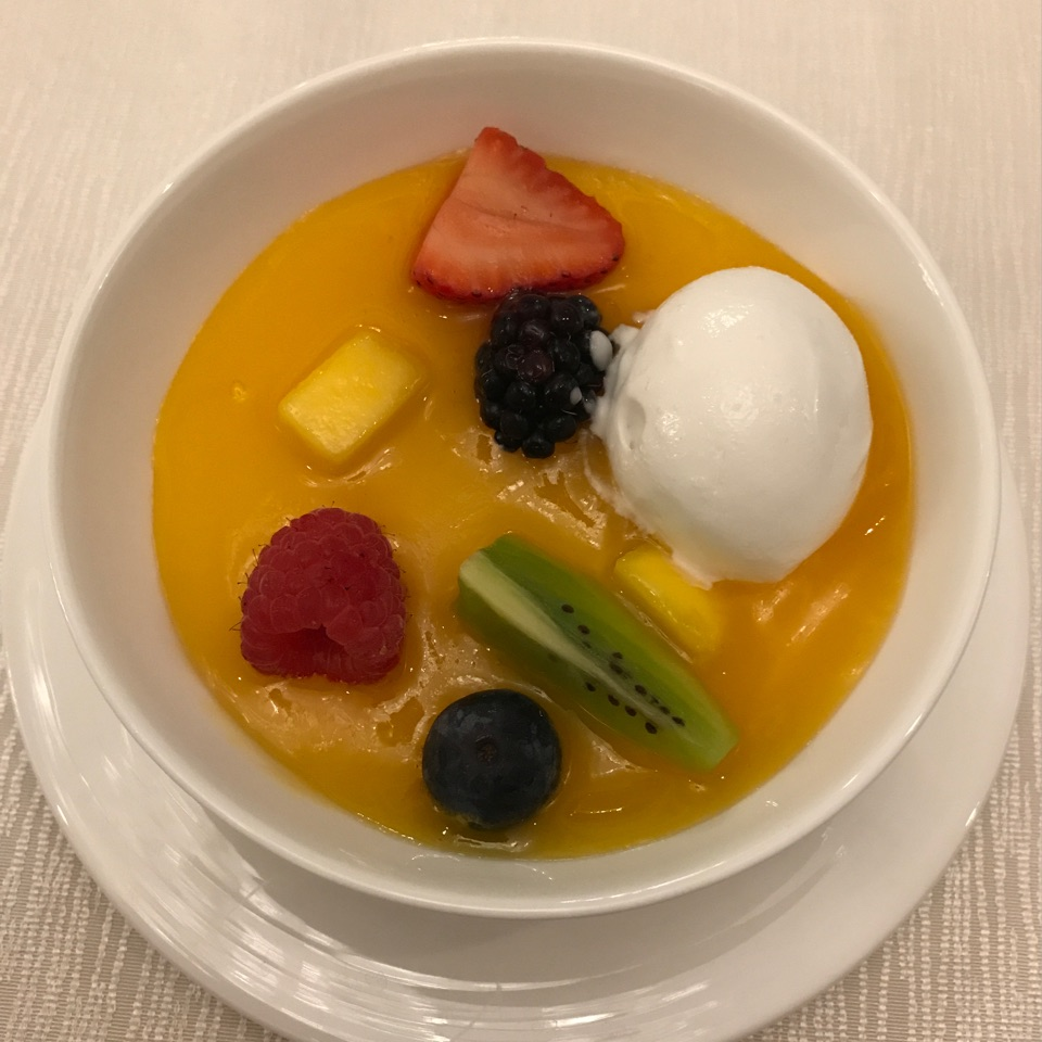 Vanilla Panna Cotta With Coconut Ice Cream