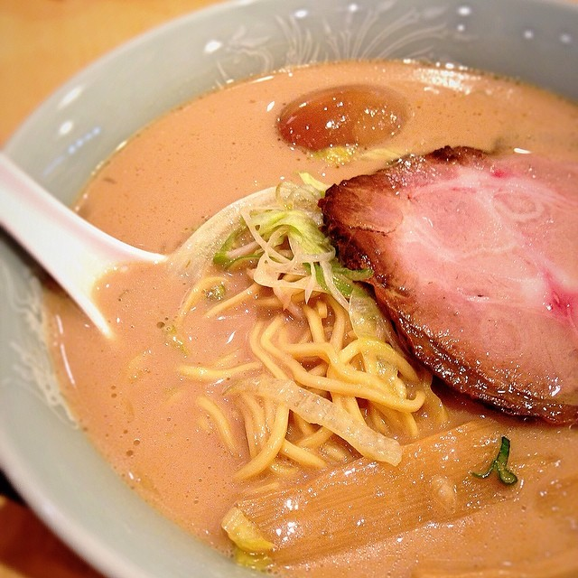 Black pork base ramen from tampopo.
