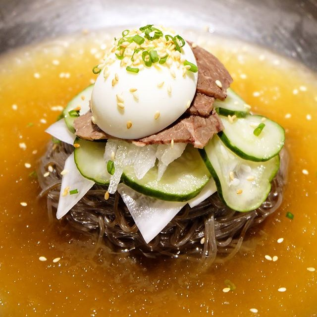 Ideal for our forever summer weather, Bornga's Naeng Myun is just the dish to beat the heat.