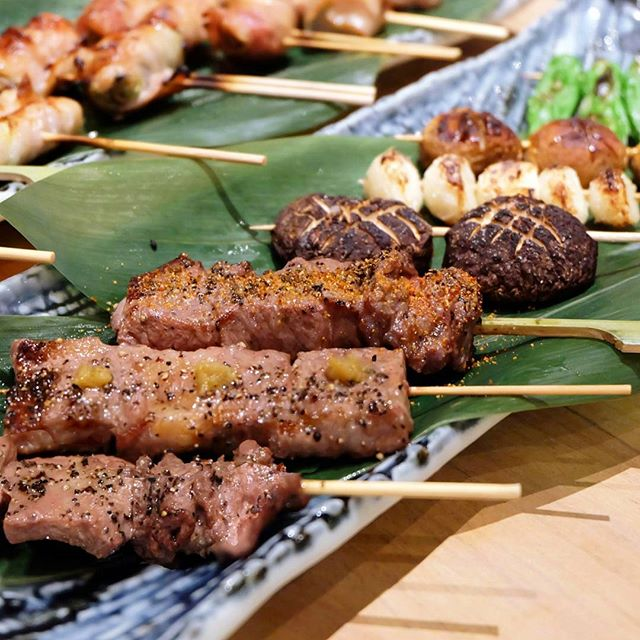 No izakaya night is complete without sake and of course, an array of grilled skewers.
