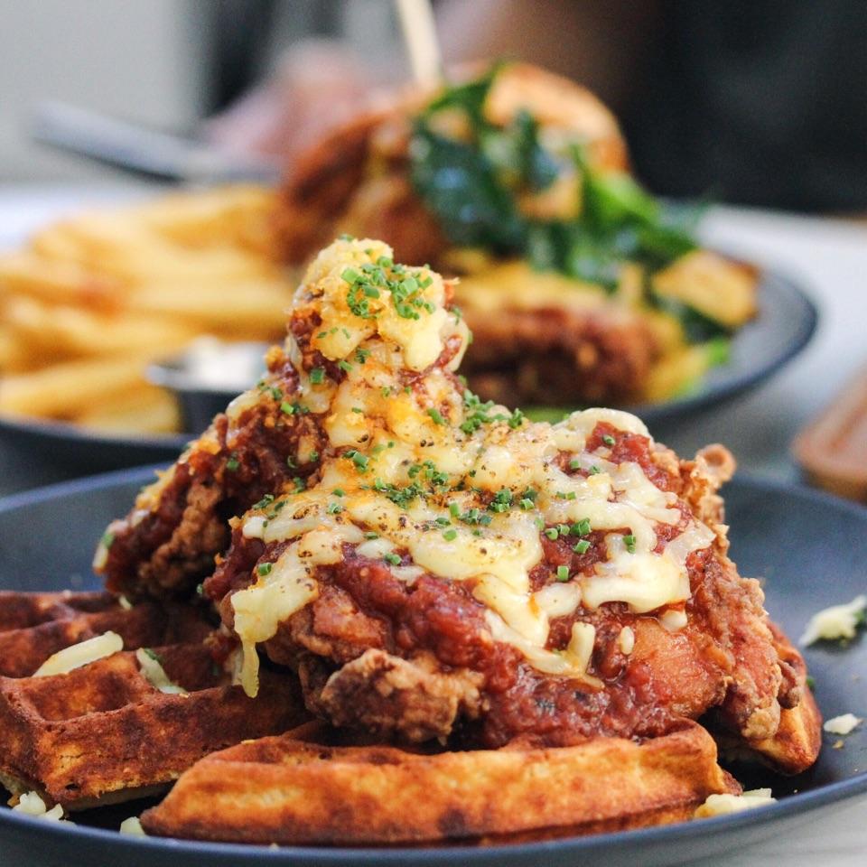 Chicken-Not-So-Little Waffle