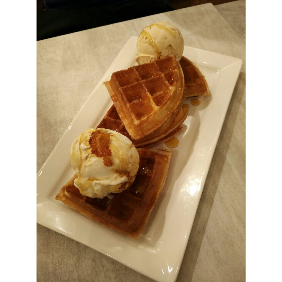 All Time Fav Waffle With Icecream