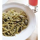 @PaperCraneSG dishes out some really value for money deals, take for example their $10 specials which come with a free homemade coolant from 11am - 2pm  The {Pesto Spaghetti with Mushrooms} is a delightful tangleweed of freshly made pesto evenly coating individual strands.