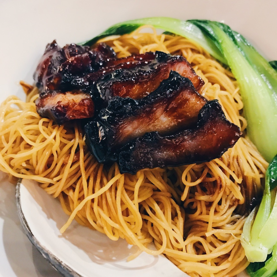 Char Siew Noodles With Wanton