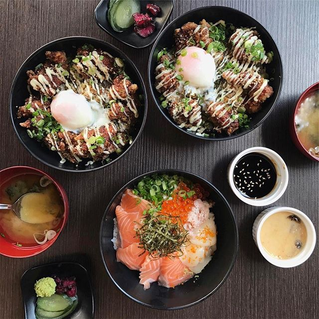 Just some bowls for lunch at our Japanese favourite place.