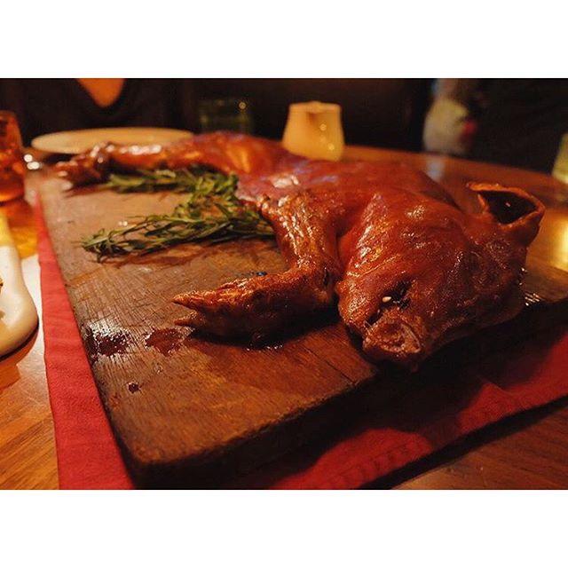 Traditional suckling pig segovian style at catalunya