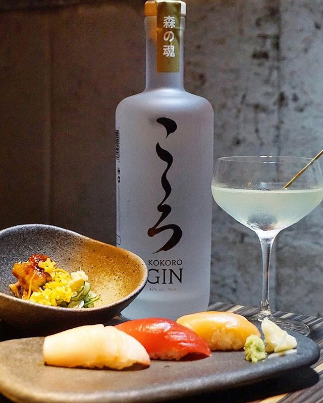 Kokoro Gin ($150/bottle) Attended last night's launch party @CacheSingapore (tapas bar embedded in @IZYSingapore) for this Japanese-themed London Dry distilled gin (42% alc), first in our country!