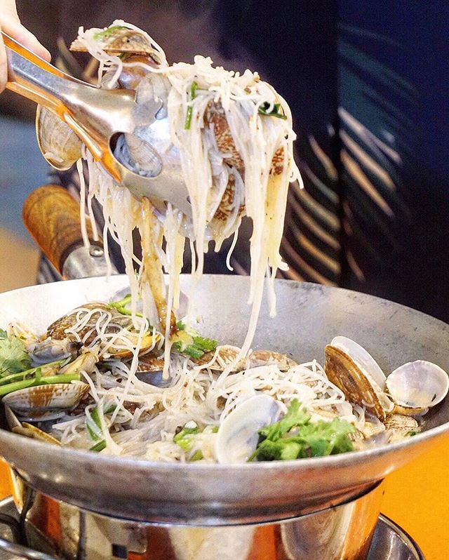 Lala (Clams) Bee Hoon ($18) Slurpy smooth rice vermicelli with all the intensity of the seawater flavours meld together - result is an umami bomb of a peppery stock.