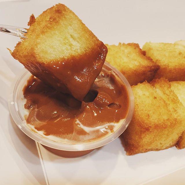 Toast with Thai milk tea Kaya dip!
