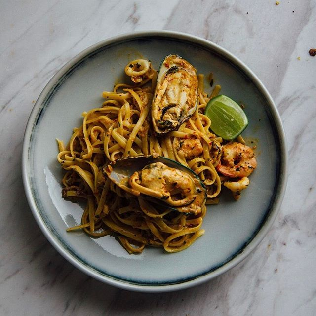 Seafood Laksa Pasta - I've a hankering now for pasta.