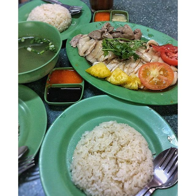 Lunch is from Xing Yun Hainanese chicken rice at Jurong East market.
