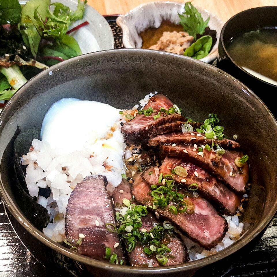 Yakiniku Onsen Tamago Don Set ($15)
