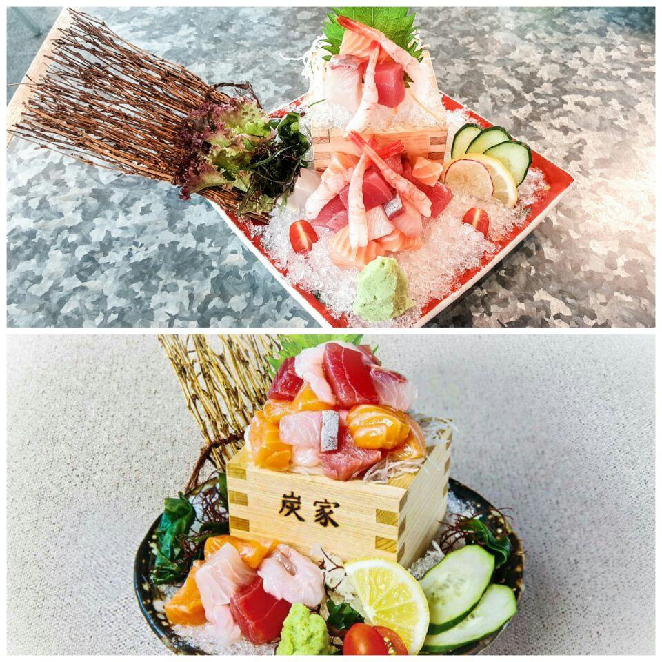 Chef's Cube Sashimi Tenkomori ($26.80)