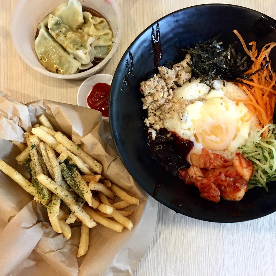 Bibimbap, Steam Dumplings And Seaweed Fries!