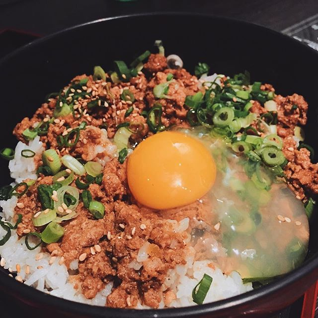 Rouleau Don - a Japanese take on Taiwan braised meat rice.