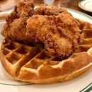 Waffles with fried chicken at Clinton St Baking.