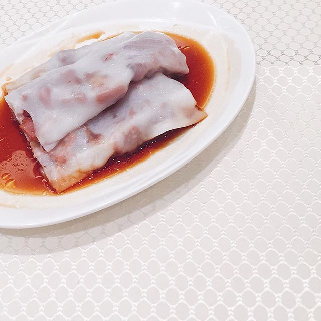 Steamed Cheong Fun with BBQ pork (S$6.80).