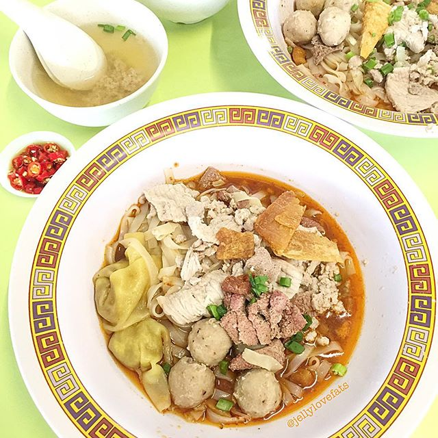 [jelly星期六] Bak Chor Mee $8.00 ❣️A hearty bowl of dried Kway teow filled with so much ingredients.