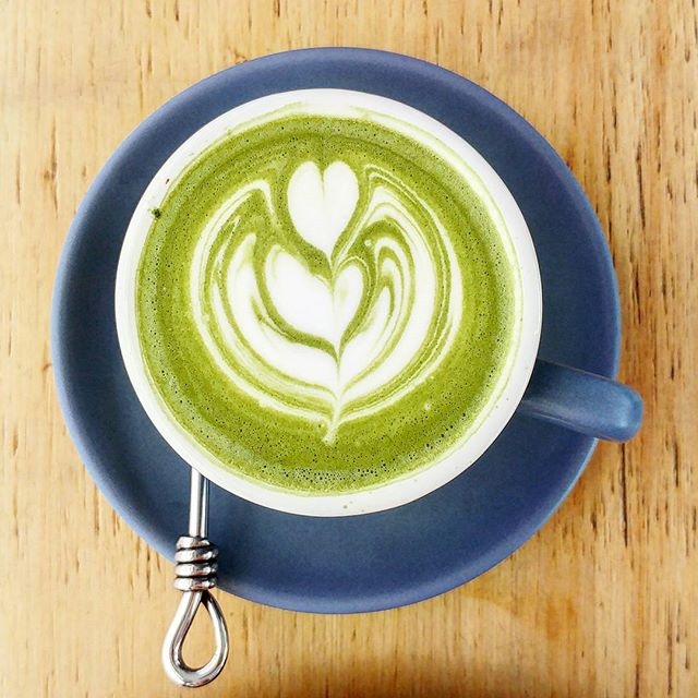Matcha latte ($6), one of my favourite cafe drinks.