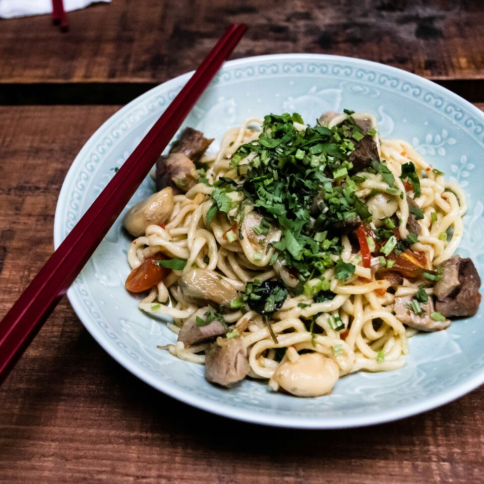 Aglio Olio with Roasted Duck