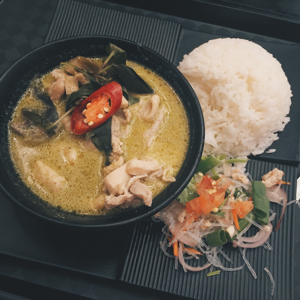 Green Curry with Rice!