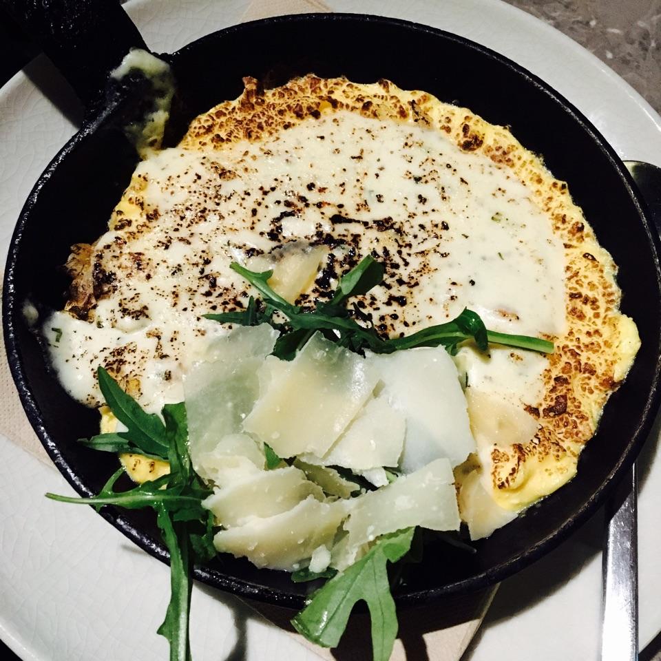 Coal-baked Omelette with Smoked Haddock