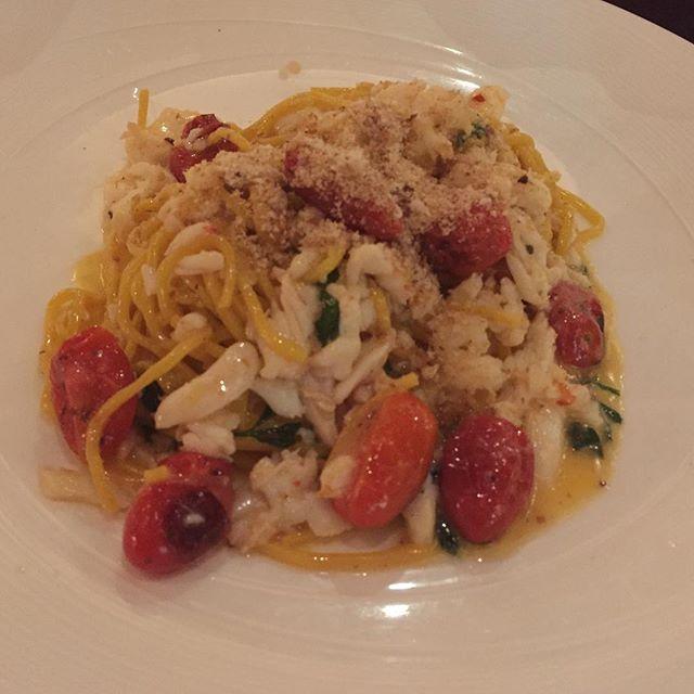 Spanner Crab Tagliolini ($44) 🦀 Saffron, Tomatoes, Chili, Lemon & Olive Oil.